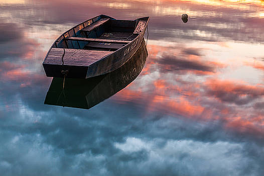 Floating on mirror by Davorin Mance