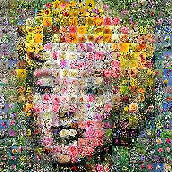 Floral Marilyn 2 by Gilberto Viciedo