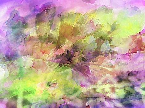 Floral Pastel Abstract by Mikki Cucuzzo