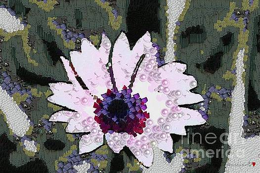 Floral Pink and Purple Pearlesqued In The Mix  by Catherine Lott