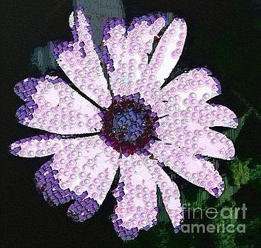 Floral Purple In The Mix Pearlesqued by Catherine Lott