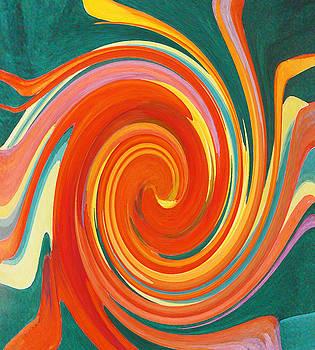 Floral Swirl 4 by Margaret Saheed
