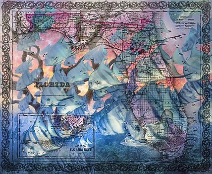 Florida and the Keys Underwater Reef and Map by Debra and Dave Vanderlaan