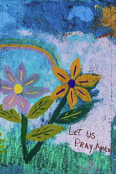 Flower and Prayer Mural by Steven Bateson