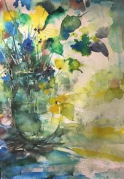 Flower and Vase Stilllife  by Robin Miller-Bookhout