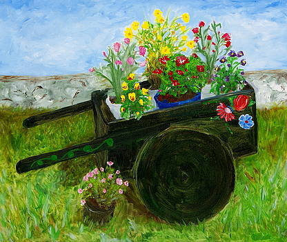 Flower Cart by Sylvia Riggs