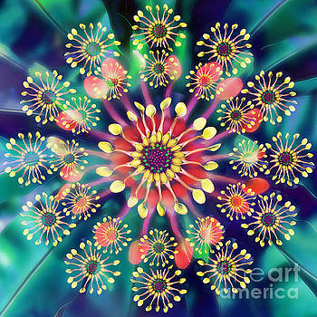 Flower Clock by Klara Acel