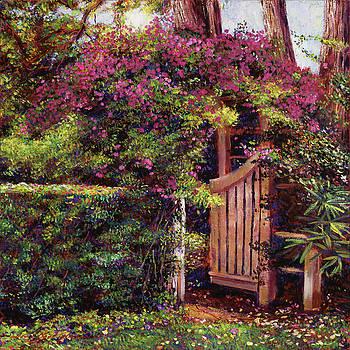 Flower Draped Gateway by David Lloyd Glover