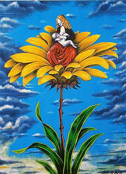 Flower Madonna by Eric de Kolb