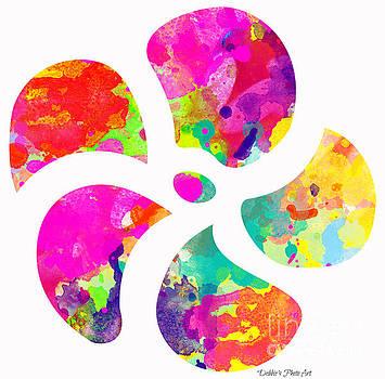 Flower Power 1 - Digital Paint by Debbie Portwood