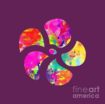 Flower Power 1 - TEE SHIRT DESIGN by Debbie Portwood
