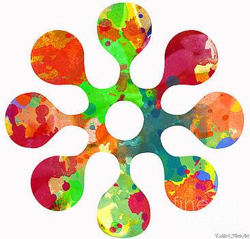 Flower Power 3 - Digital Paint by Debbie Portwood
