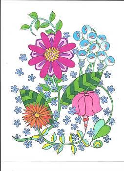 Flower Power 3 by Roberta Dunn