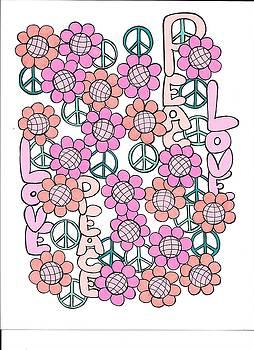 Flower Power 8 by Roberta Dunn