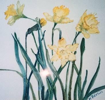 Flowers 1 by Katherine  Berlin