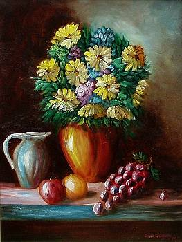 Flowers and fruit by Gene Gregory