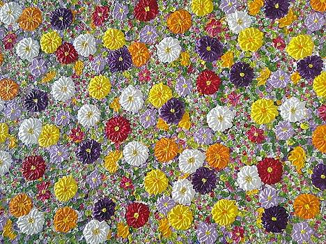Flowers in bloom  by Jilly Curtis