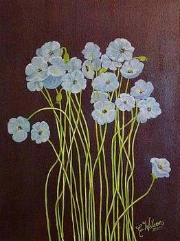 Flowers in Blue by Cindy Watson