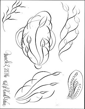 Flowers in ink by Valerie Vanorden