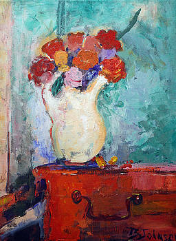 Flowers On The Dresser by Benjamin Johnson