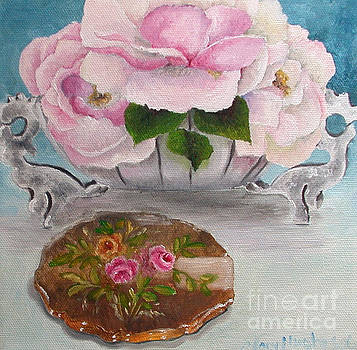 Flowers on the Dresser Compact by Mary Hughes