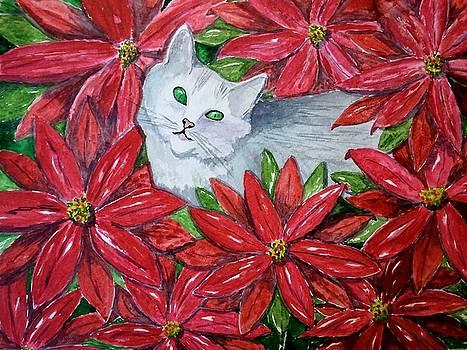 Christmas Cat by B Kathleen Fannin