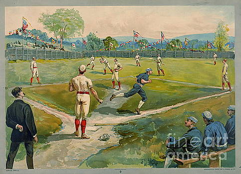 Fly Ball 1887 by Padre Art