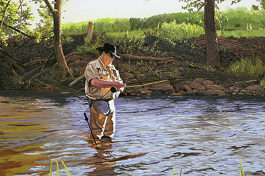 Fly Fisherman by Kenneth Young