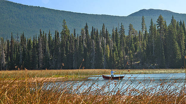 Fly Fishing Hosmer Lake Larry Darnell by Larry Darnell