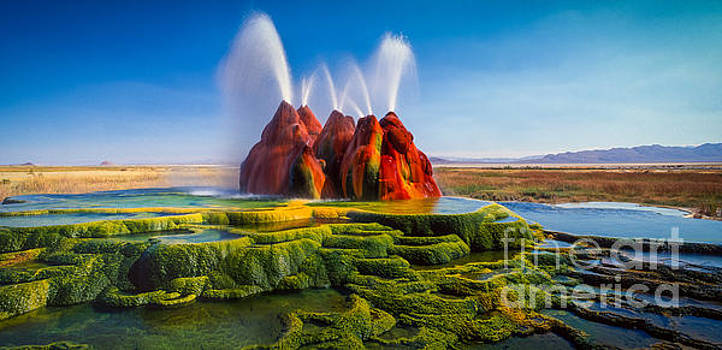 Fly Geyser Panorama by Inge Johnsson