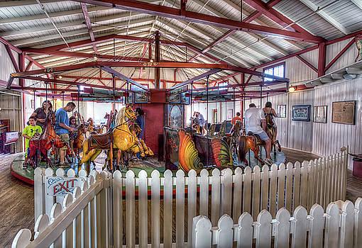 Flying Horses Carousel by John Hoey