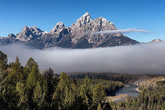 Fog and Snake River Teton County WY by Troy Montemayor