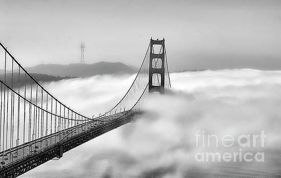 Chuck Kuhn - Fog Covers Golden Gate Bridge SF