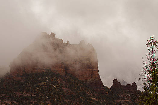 Fog Over Snoopy Rock by Tom Kelly