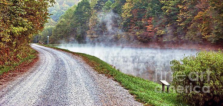 Fog Rising Over the Pond by Kerri Farley