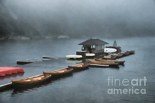 Foggy Morning At The Lake  by Judy Palkimas