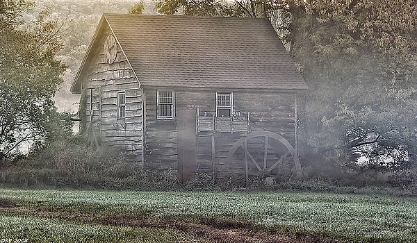 Foggy Morning Mill by Richard Bean