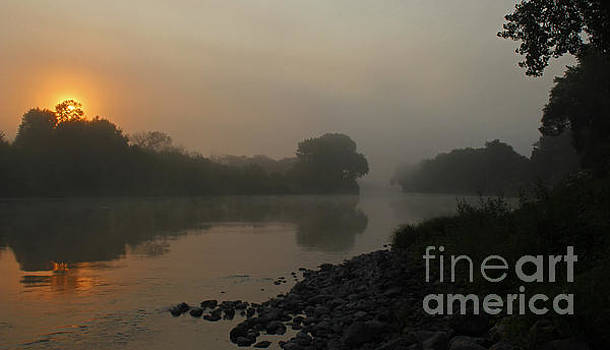 Foggy Morning Red River of the North by Steve Augustin