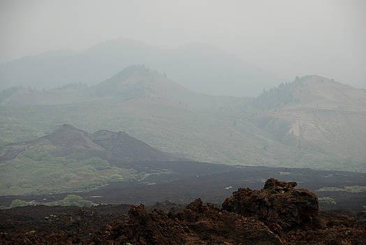 Foggy Volcano, Maui, Hawaii by Preston Broadfoot