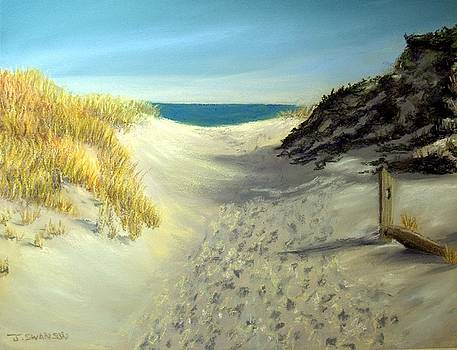 Footprints in the Sand by Joan Swanson