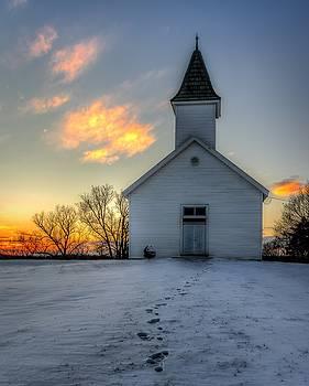 Footprints In The Snow by Mark McDaniel