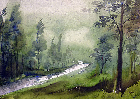 Forest and Moutain River by Samiran Sarkar