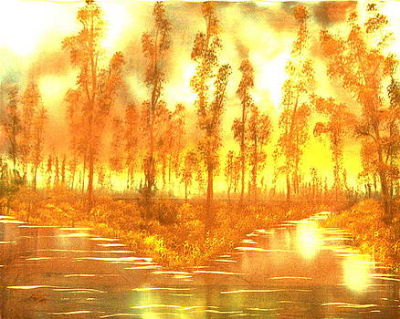 Forest Fire by Edward C Van Wicklen Sr