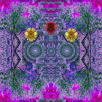 Forest  Flower Skull by Pepita Selles