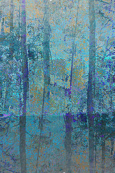 Forest Morning Light Blue by Suzanne Powers