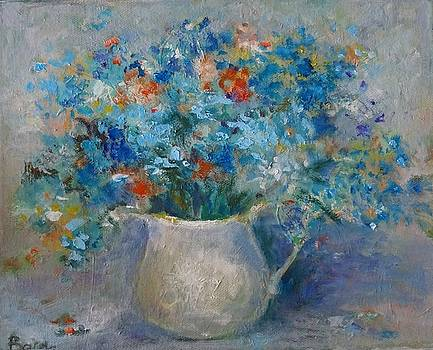 Forget me not flower by Natalia Bardi