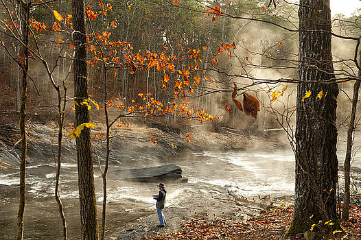 Fork River in Fall by Katherine Worley