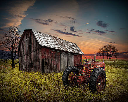 Randall Nyhof - Forlorn Abandoned Farmall Tractor and Barn