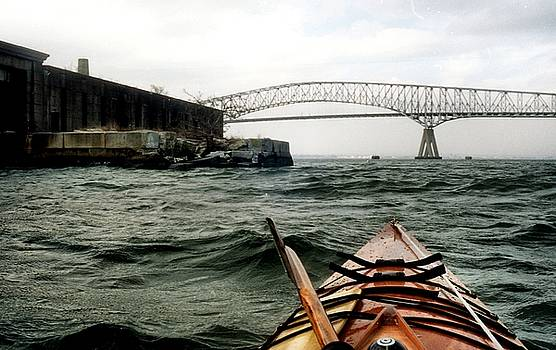 Fort Carroll, Key Bridge, Patapsco River, Baltimore, Maryland, 1997 by Wayne Higgs