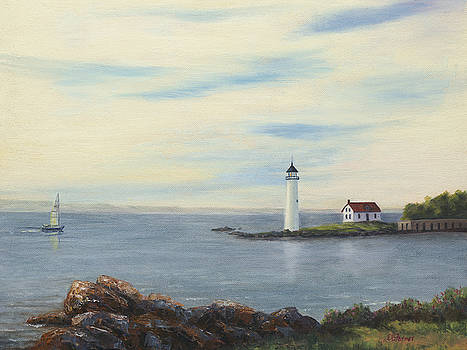 Fort Constitution Lighthouse by Elaine Farmer